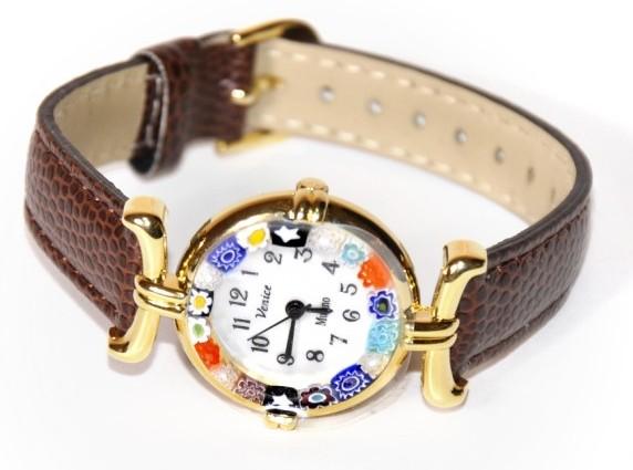 Часы из муранского стекла №1